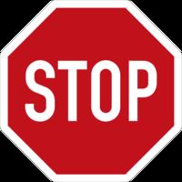 """Zwischen """"STOP""""-Schild / Haltelinie und der relevanten Kfz-Fahrbahn befindet sich die Radtrasse, die für den Radverkehr auf Sicht und ohne Halt befahren werden kann."""