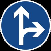 """Vorgeschriebene Fahrtrichtung """"geradeaus oder rechts"""" ist nur für den Autoverkehr sinnvoll und hemmt die Fahrradnetzdurchlässigkeit"""
