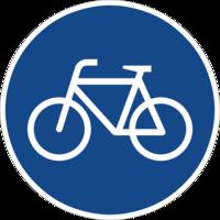 Benutzungspflichtiger Radweg (Zeichen 237) unter Mindestbreite, sichere Fahrradnetzdurchlässigkeit gehemmt.