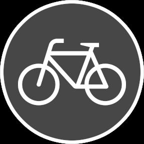 Der Weg ist für den Radverkehr geeignet, jedoch nicht als solches ausgewiesen