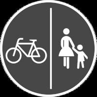 Der Weg ist für den getrennten Fuß- und Radverkehr geeignet, jedoch nicht als solches ausgewiesen
