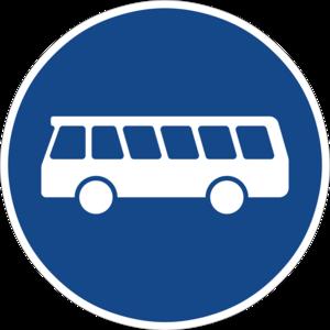 Eine ausgewiesene Busspur kann als Alternative zur Fahrradinfrastruktur dienen
