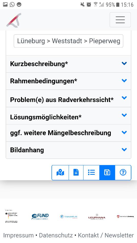 Screenshot 10: Mängelbearbeitungsfenster - Dialog