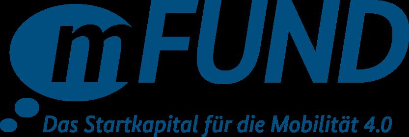 Logo von mFUND, dem Startkapital für die Mobilität 4.0