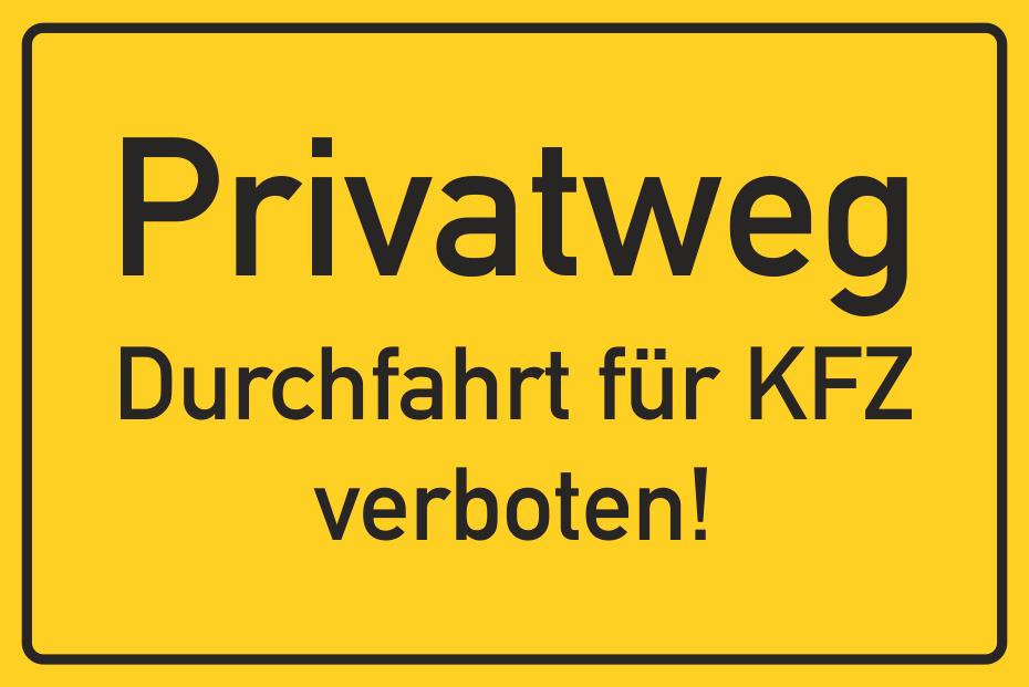 Privatweg Kfz-Verbot (nicht in StVO)
